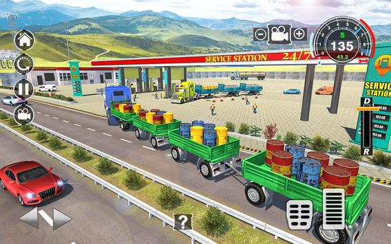 Long Trailer Euro Truck Cargo Transporter Drive ScreenShot1