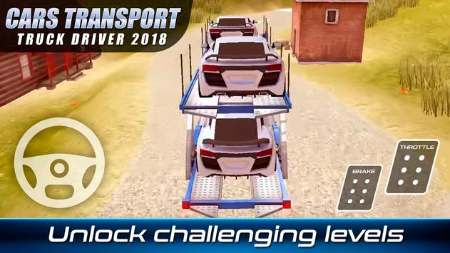 Cars Transport Truck Driver 2018
