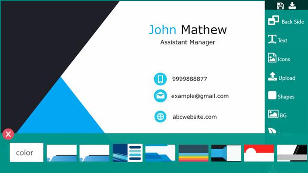 Business Card Maker Visiting Card Maker Photo Logo ScreenShot1
