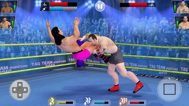 Tag team wrestling 2019: Cage death fighting Stars ScreenShot1