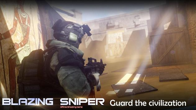 Blazing Sniper  offline shooting game ScreenShot1