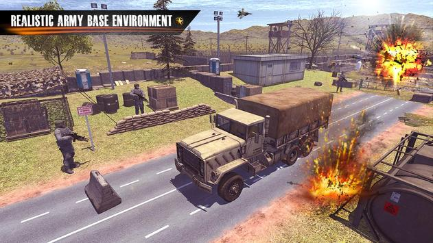 Us Army Truck Driving : Real Army Truck ScreenShot1