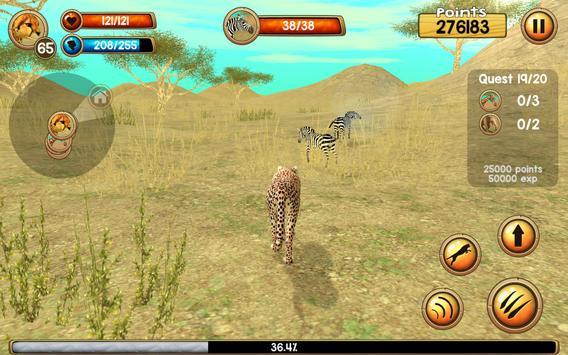 Wild Cheetah Sim 3D ScreenShot1
