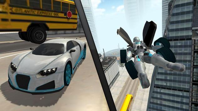 Flying Car Robot Flight Drive Simulator Game 2017 ScreenShot1