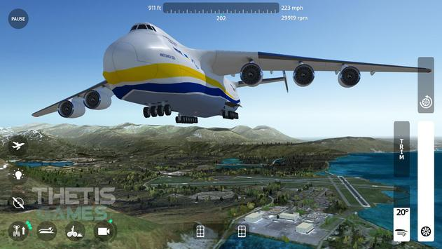 Flight Simulator 2018 FlyWings Free ScreenShot1