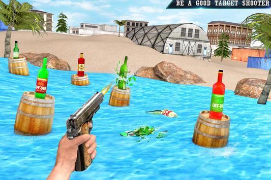 Real Bottle Shooting Free Games ScreenShot1