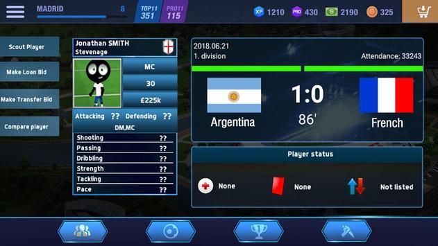 2019 Football Fun  Fantasy Sports Strike Games ScreenShot1