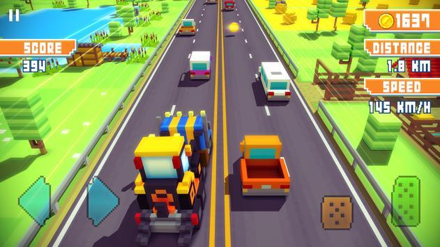 Blocky Highway: Traffic Racing ScreenShot1