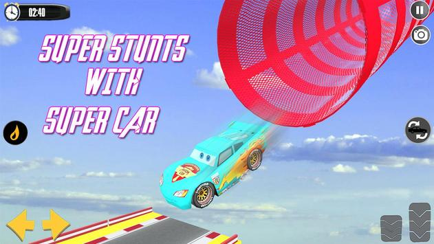 Splashy Superhero Vertigo racing : lightning car ScreenShot1