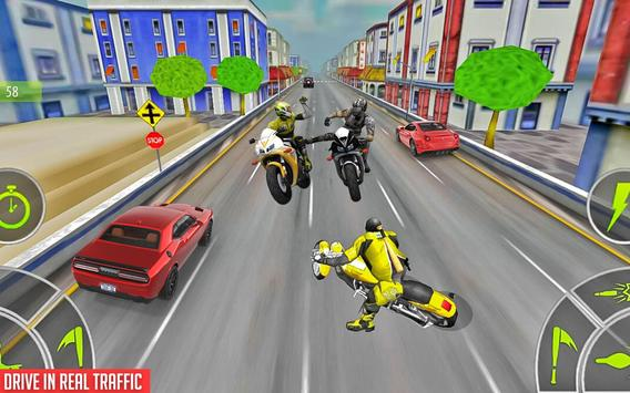 Crazy Bike attack Racing New: motorcycle racing ScreenShot1