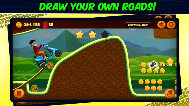 Road Draw 2: Moto Race ScreenShot1