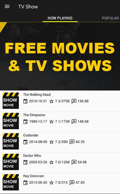 Free Movies and Shows ScreenShot2