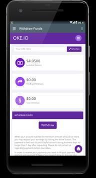 Oke.io - Shorten Urls and Earn Money! ScreenShot2