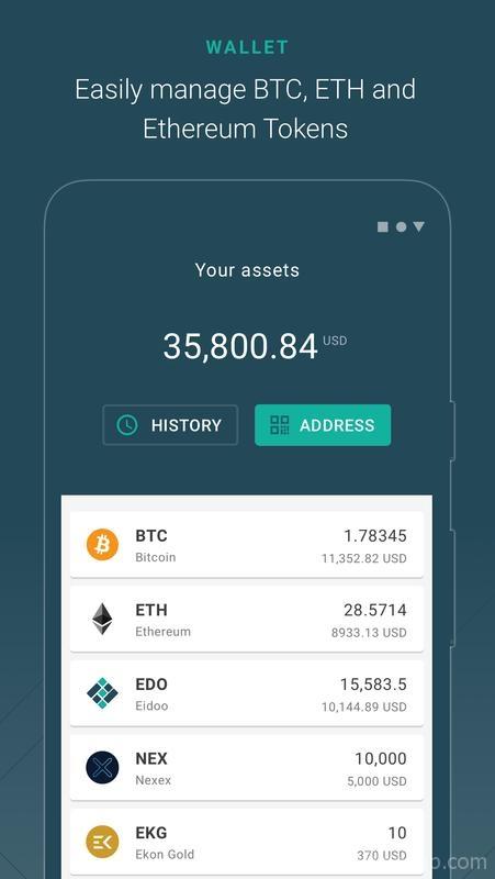 Eidoo: Bitcoin and Ethereum Wallet