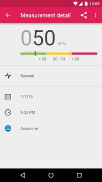 Runtastic Heart Rate Monitor and Pulse Checker ScreenShot2