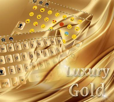 Luxury Gold Keyboard Theme