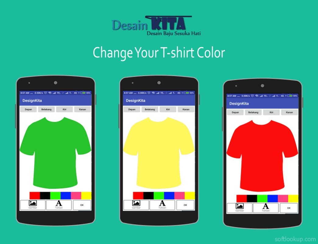DesainKita - Customize your own t-shirt and share!