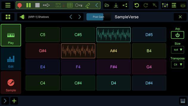 Stagelight: Audio and MIDI DAW ScreenShot2