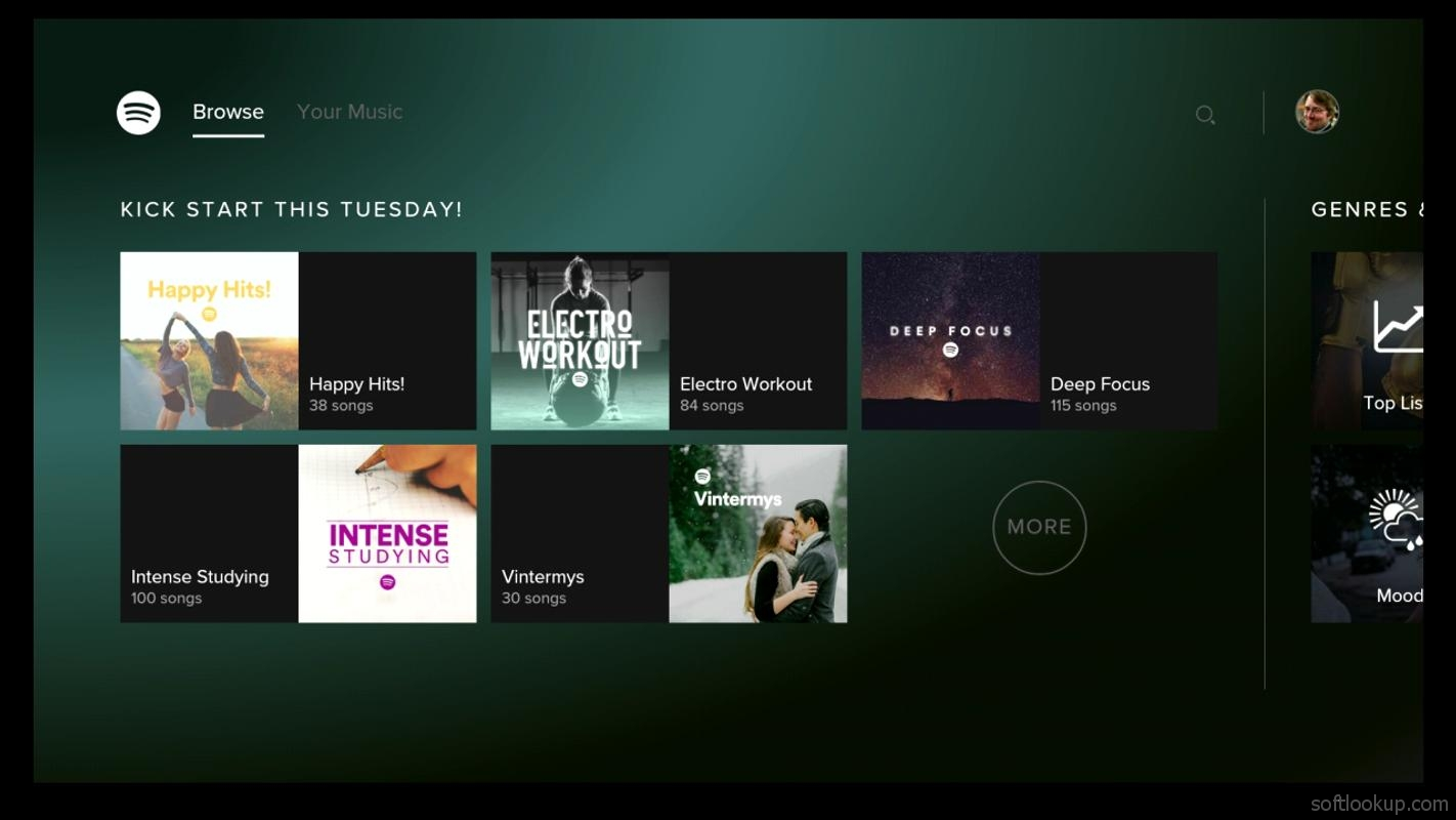 Spotify Music - for Android TV ScreenShot2