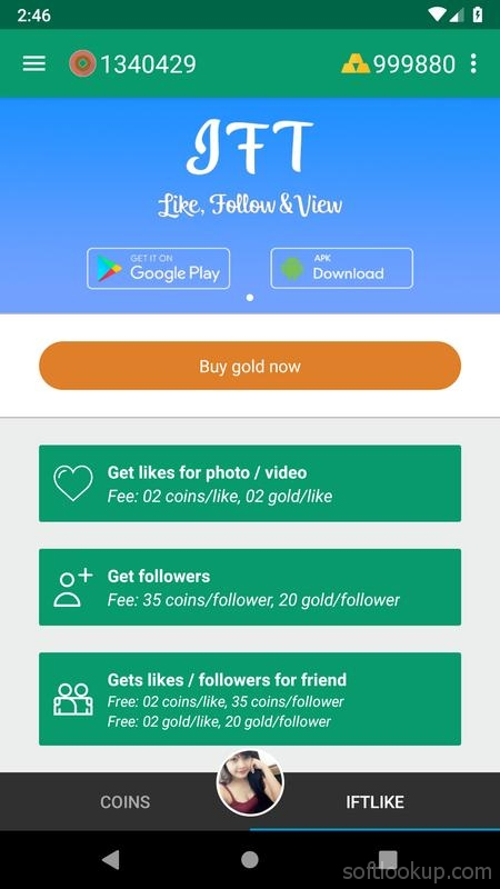 Likes and followers for Instagram