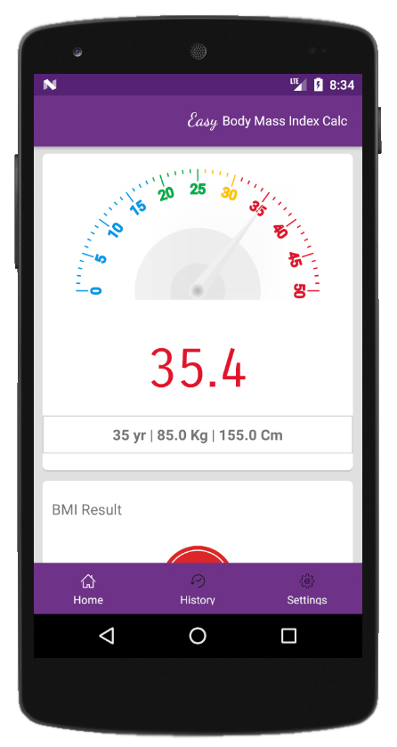 Body Mass Index Calculator by Softlookup.com ScreenShot2