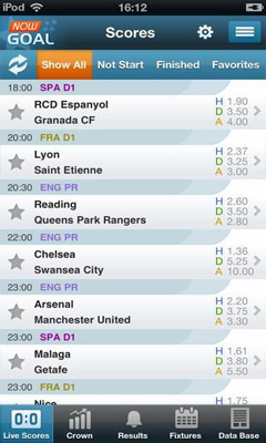 Nowgoal Livescore Odds for Android 4 3 Free for Android