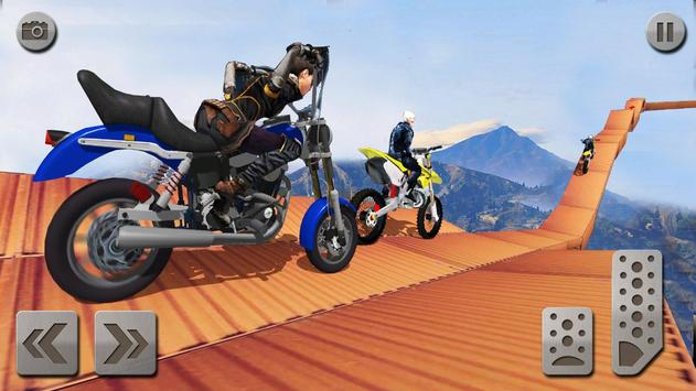 Impossible Mega Ramp Moto Bike Rider: Superhero 3D ScreenShot2