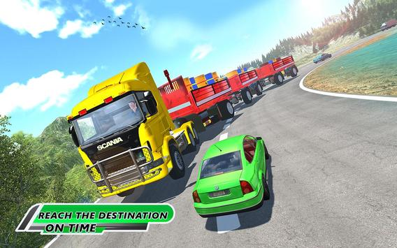 Long Trailer Euro Truck Cargo Transporter Drive ScreenShot2