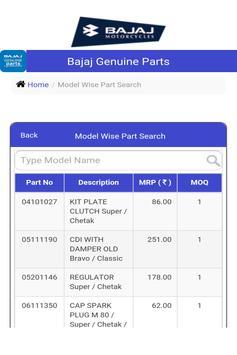 Bajaj Genuine Parts