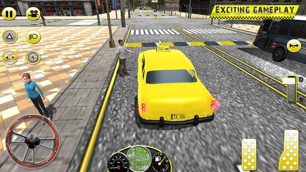 Taxi Driving in Rush City ScreenShot2