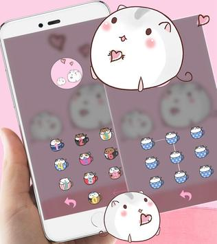 Cute Cup Cat Theme Kitty Wallpaper and icon pack ScreenShot2