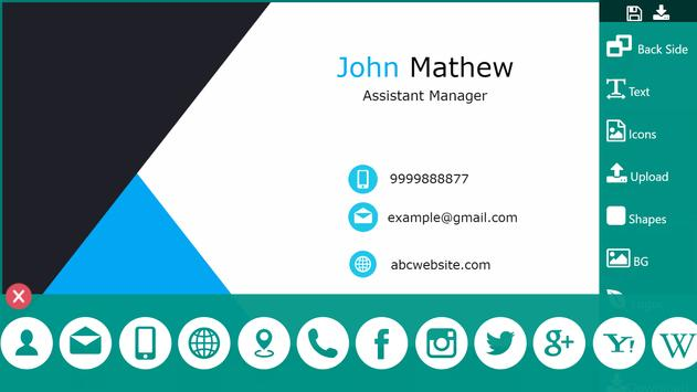 Business Card Maker Visiting Card Maker Photo Logo ScreenShot2