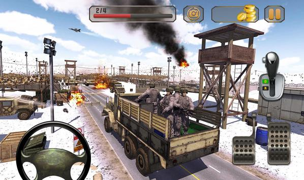 Us Army Truck Driving : Real Army Truck ScreenShot2