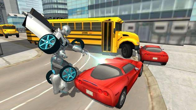 Flying Car Robot Flight Drive Simulator Game 2017 ScreenShot2