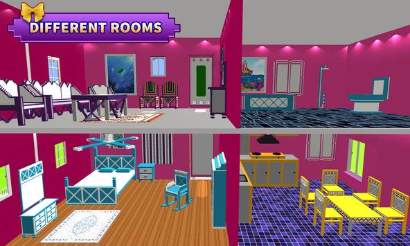 Doll House Design and Decoration : Girls House Games ScreenShot2