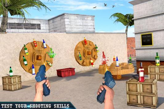 Real Bottle Shooting Free Games ScreenShot2