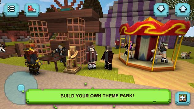 Theme Park Craft: Build and Ride ScreenShot2