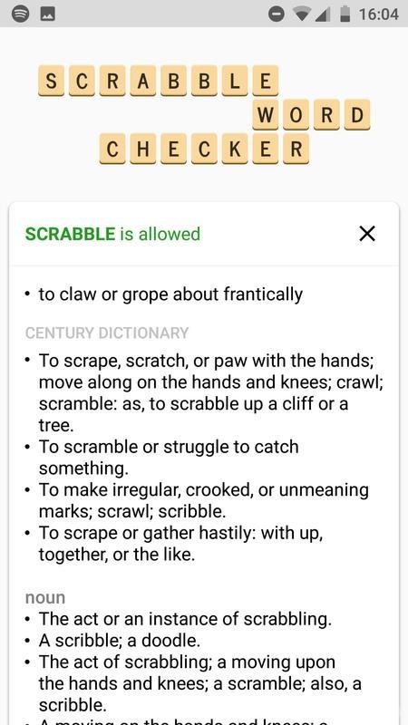 SCRABBLE Word Checker ScreenShot2