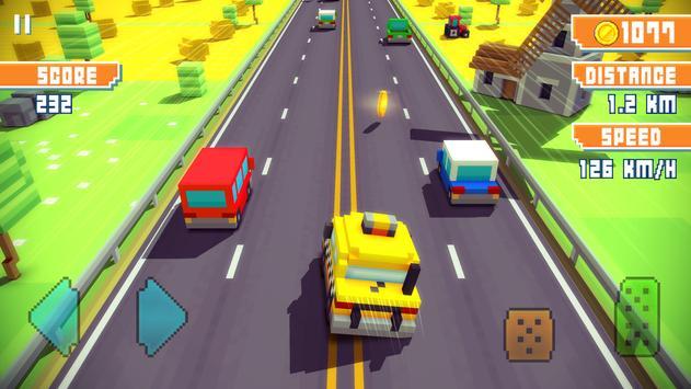 Blocky Highway: Traffic Racing ScreenShot2