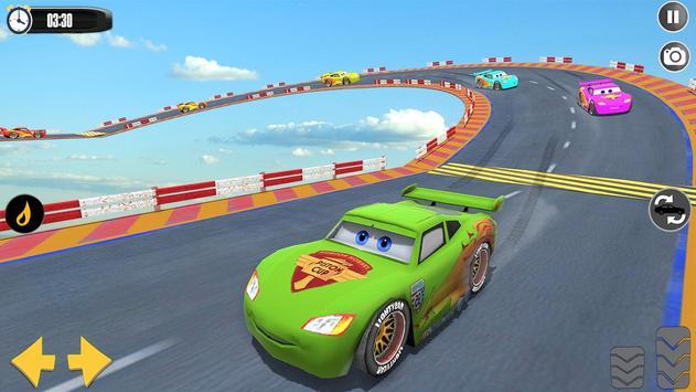 Splashy Superhero Vertigo racing : lightning car ScreenShot2