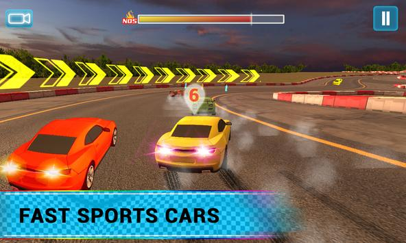 Airborne Real Car Racing Free Game ScreenShot2