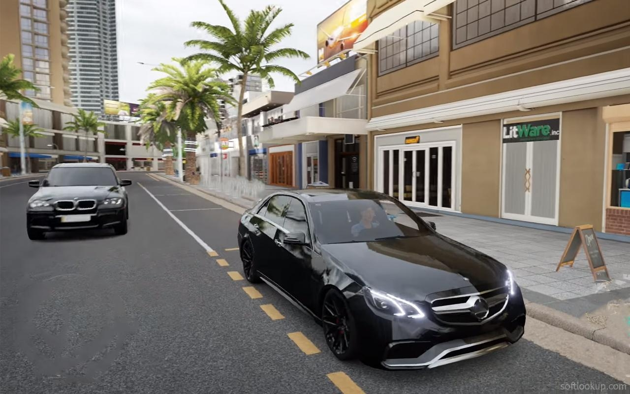 Car Racing Mercedes Benz Game ScreenShot2