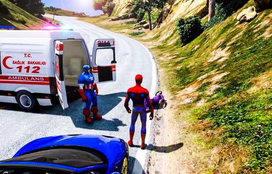Superhero Ambulance Rescue Patient Mission