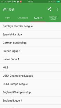 Win bet - football prediction