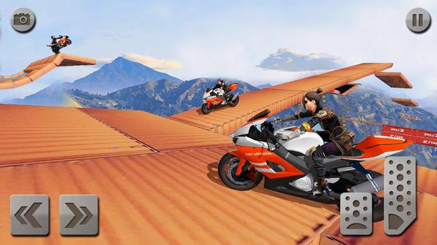 Impossible Mega Ramp Moto Bike Rider: Superhero 3D ScreenShot3