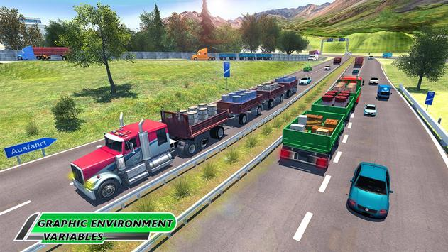 Long Trailer Euro Truck Cargo Transporter Drive ScreenShot3
