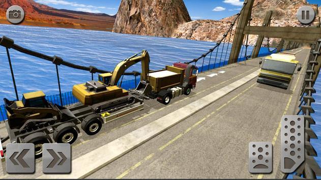 Sand Excavator Truck Driving Rescue Simulator 3D