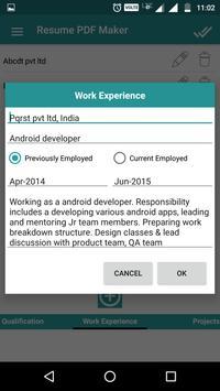 Resume PDF Maker / CV Builder ScreenShot3