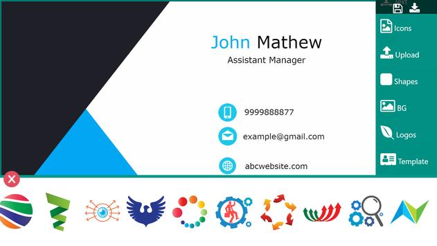 Business Card Maker Visiting Card Maker Photo Logo ScreenShot3