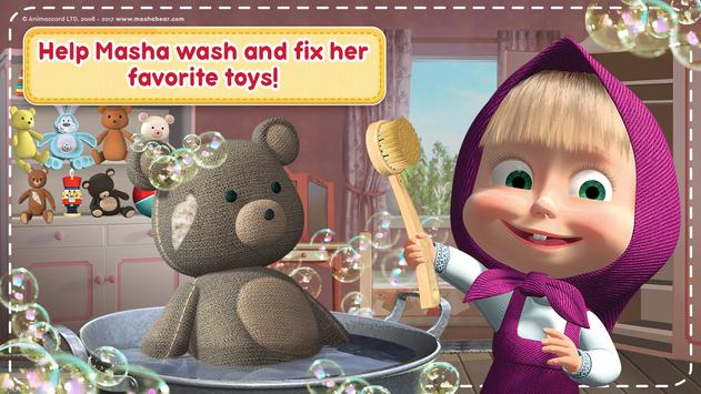 Masha and the Bear: House Cleaning Games for Girls ScreenShot3